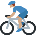 illustration of a person biking